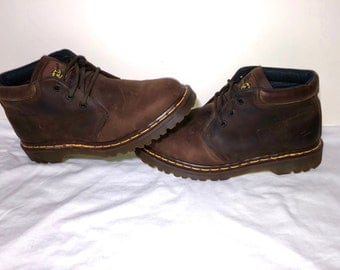Vintage Doc Marten Mid Cut Classic Brown Work Boot Mens Size 8