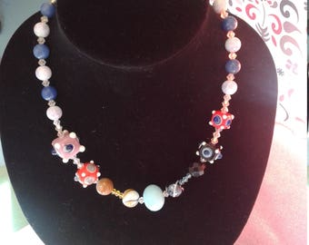 """18 """" comical bright silly necklace."""