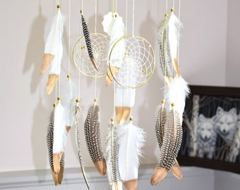 Baby Mobile, Boho Baby Mobile, Dream Catcher Mobile, New Baby Gift, Nursery Mobile, Woodland Mobile, Native Style, Woodland Nursery
