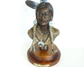 Bronze Sculpture Native American by Ron Adamson/Collectibles/Art Deco