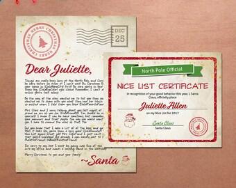 santa claus letter etsy
