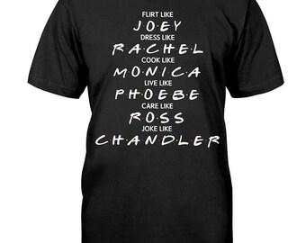 Friends TV Show tshirt | flirt like joey t shirt | 90s tv show Christmas Gift Tumblr tshirt