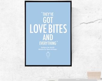 Sergio Aguero, Love bites Manchester City - A3/A4 Print