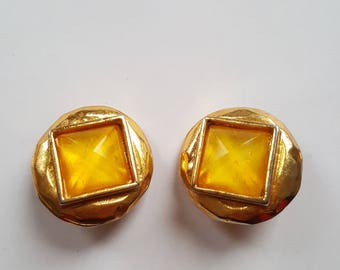 Edouard Rambaud clip on earrings/ vintage couture