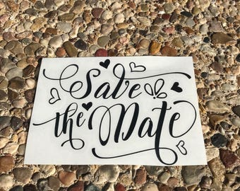 Save the Date Decal - Wedding Decal - Bride Decal - Invitation Decal - Bride and Groom Decal - Wedding Date Decal - Married Decal - Bridal