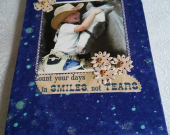 A girl and her horse fabric covered journal