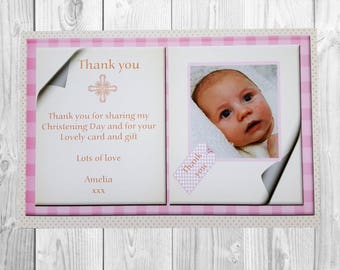 10 x Christening Thank You Cards Boy Girl Christening Baptism Thanks Cards