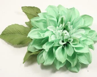 Mint Hair Flower