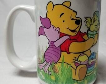 Easter Winnie the Pooh and Piglet Ceramic Mugs, Latte Mugs, Coffee, Tea, Hot Chocolate