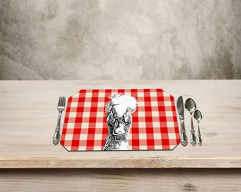Duck Placemats,Farmhouse Table, Black White Print, Duck Decor, Farmhouse Cottage Decor, Add a Fun Farmhouse Touch to your Kitchen Table.