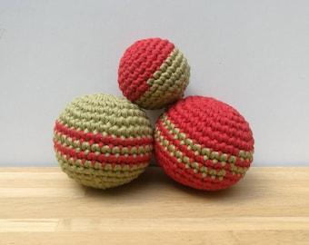 Multicolored crochet balls