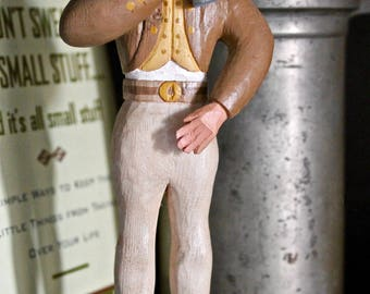 The Drinking Man Folk Art Carving