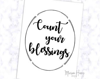 "Poster A4 ""Count Your Blessings"""