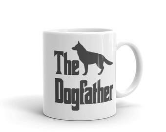 The Dogfather mug, German Shepherd mug, funny dog gift mug, The Godfather parody, dog lover mug, gift for dog owners, gift for dog lovers