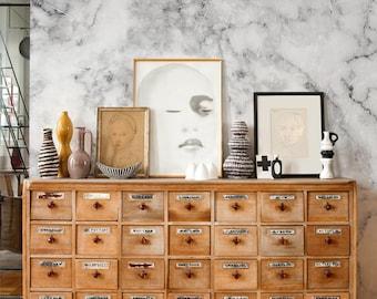 Marble   - removable wallpaper -  white wall mural   Reusable wallpaper   self adhesive peel&stick wallpaper #88