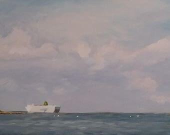 Ferry initially Roscoff