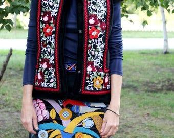 Ukrainian Embroidery Vyshyvanka Vishivanka Bohemian clothing Custom Boho Clothes Embroidered Vest Sleeveless Coat Ethnic Ukraine Modern