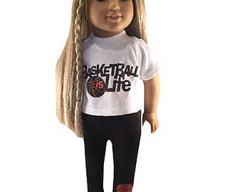 American Girl Doll Basketball Outfit