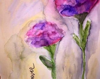 Flower Painting | Original hand-painted Watercolor