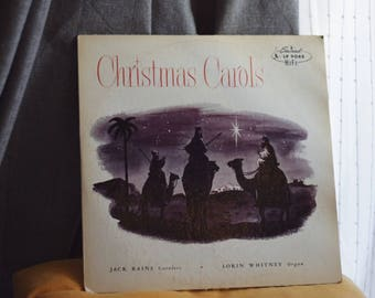 Vintage Jack Rains Carolers & Lorin Whitney Organ *Lp Red Vinyl*