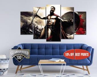 300 Spartans canvas, 300 Movie, Art Home Decoration, Spartans print, 300 Spartans print, 300 Spartans canvas, Movie canvas, 300 Spartans