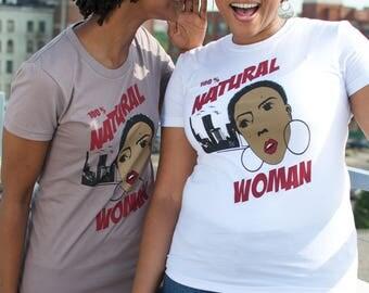 Natural Hair TShirt - Black Woman TShirt - Black Art - Afro Shirt - Afro TShirt - Lady With Afro - Afro Hair - Hair TShirt -Black Girl Magic