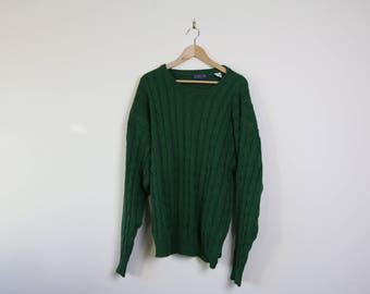Vintage Christopher Rand Sweater, Green 100% Cotton
