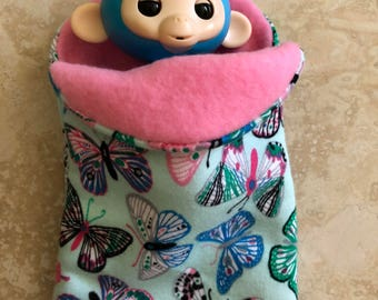 Fingerlings Finger Monkey butterfly sleeping bag accessory