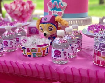 Paw Patrol PERSONALIZED Water Label!