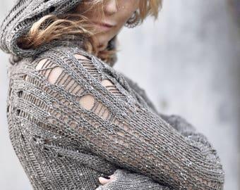 "MEDIEVAL short TOGA-merino wool ""ASH"""