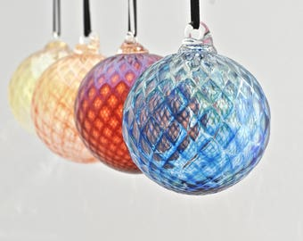 Set of Four Hand Blown Ornaments (Jewel Collection): Save with a Set of Four Hand Blown Glass Christmas Ornaments