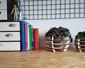 Industrial Wooden Flowerpot