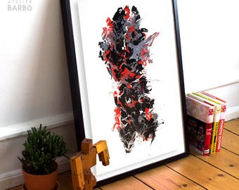 Kalia / / abstract fluid acrylic painting