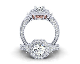 Tow Tone diamond Engagement Ring