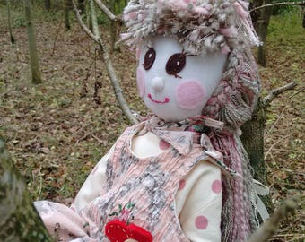Hand made one of a kind traditional cloth rag doll