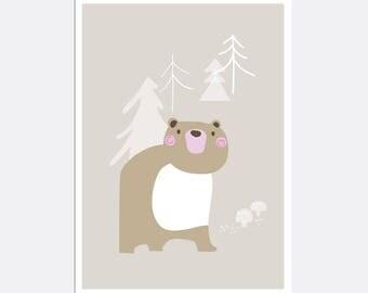 Prints for kids / posters for kids / nursery art / nursery wall art / nursery prints / nursery decor / kids room decor / bear
