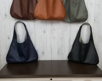 Kimmer Bag Leather Bag Shoulder Bag Hobo Bag Slouch Bag Handmade Leather Bag