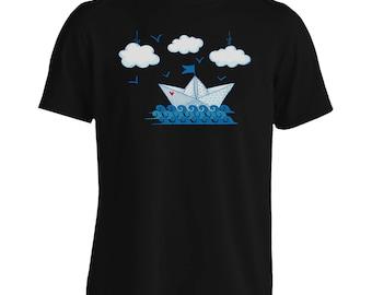 NEW paper boat background Men's T-Shirt i870m