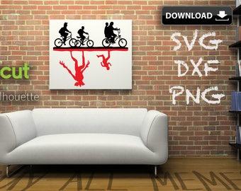 Kids On Bikes | Stranger Things Dxf | Svg Png | Make A T-shirt | Wall Art | Card | Pillow | Mug | Etc