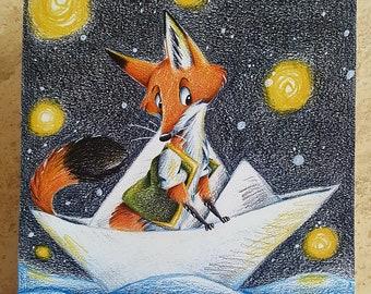 "Art print ""Travel Fox"""