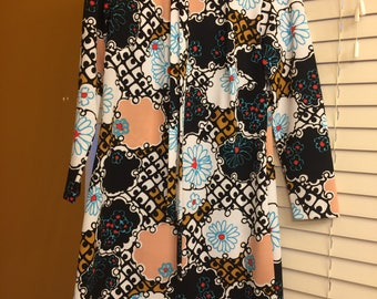 Vintage 1970's Patterned Dress