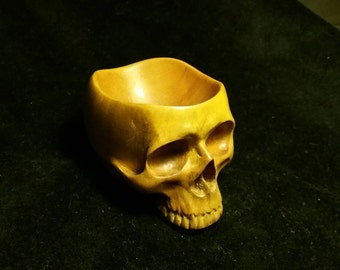 Teak Wood Skull bowl