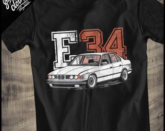 """BMW E34 """"College"""" T-Shirt"""
