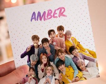 Personalised SEVENTEEN K-Pop Card