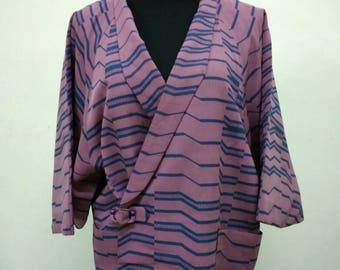Japanese haori kimono purple kimono jacket /kimono cardigan/kimono robe/#013