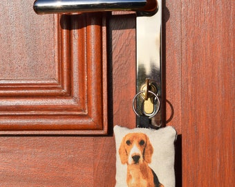 Beagle Key Ring Handmade Sewn Friendship Gift Christmas Stocking Filler Secret Santa Cushion Fob Chain
