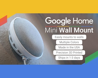 Google Home Mini Wall Mount / Ceiling Mount!  (Assorted Colors) Mounting screw included! Google Home Holder! Google Home mini Mount