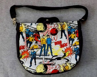 Star Trek TOS Cross Body Purse Messenger Bag