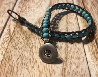 Boho Wrap Turquoise Bracelet