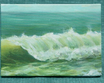 "Churning Wave - 5"" x 7"" Print on Canvas"